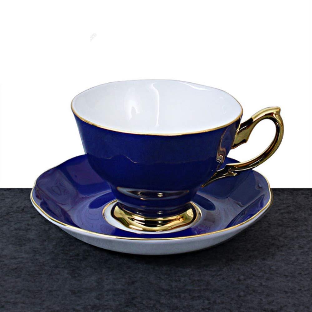 Hueso China Taza De Café Y Saucer Moda Oro Chapado Taza De Té ...