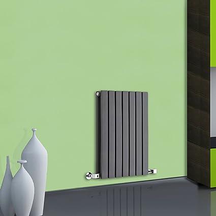 Milano Hudson Reed - Radiador de Diseño Horizontal Doble - Antracita - 635mm x 420mm x
