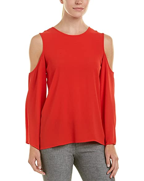 85085389f7f6a9 Vince Camuto Women s Long Bell Sleeve Cold Shoulder Blouse at Amazon Women s  Clothing store