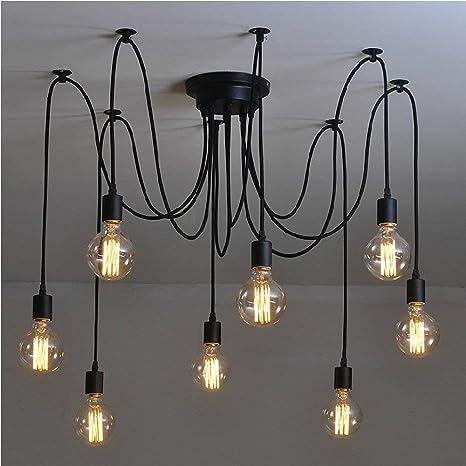 Signstek, lampadario retrò E27, fai da te, stile industriale 40.0W  Amazon.it Illuminazione