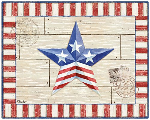 Magic Slice Non-Slip Flexible Patriotic Barn Star Cutting Board, 12