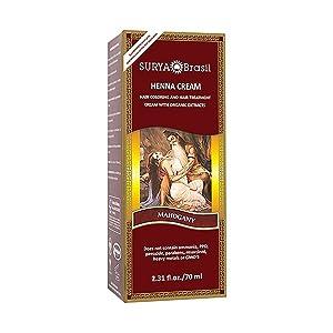 Henna Mahogany Cream Surya Nature, Inc 2.37 oz Cream