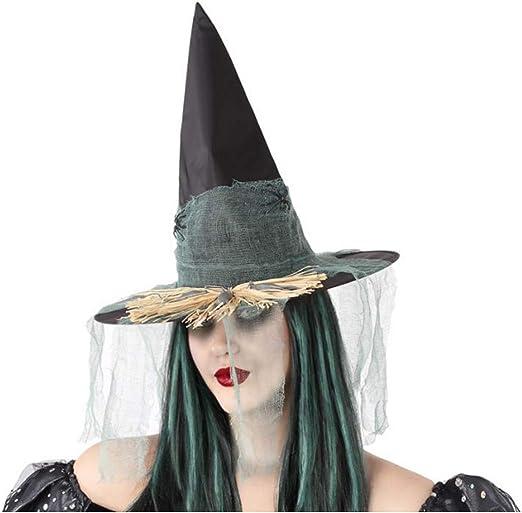 Cisne 2013, S.L. Sombrero de Bruja Negro con telaraña Verde para ...
