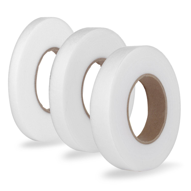 Tubala 3rotoli di nastro no Sew orlo tessuto Fusing nastro adesivo termoadesivo Hemming tape, ogni 64m, dimensioni assortite 4337014293