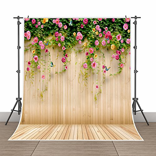 5x7ft Photography Background Vinyl Backdrop Paper Studio Props-Yellow Vertical Grainy Wood Grain