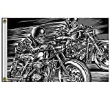 Hot Leathers Skull Racers 3'x5' Flag FGA1067
