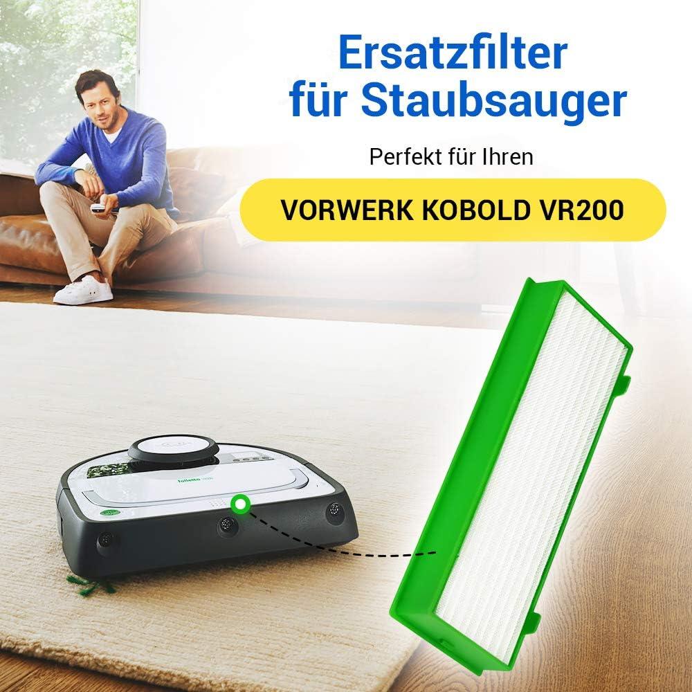 Vorwerk Hepa - Filtro de salida de aire para robot aspirador Kobold VR-200 3 unidades: Amazon.es: Hogar