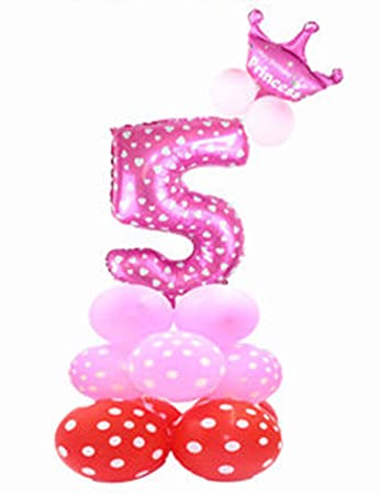 0 9 Number Birthday Decorations Balloon Happy Balloons Party Air