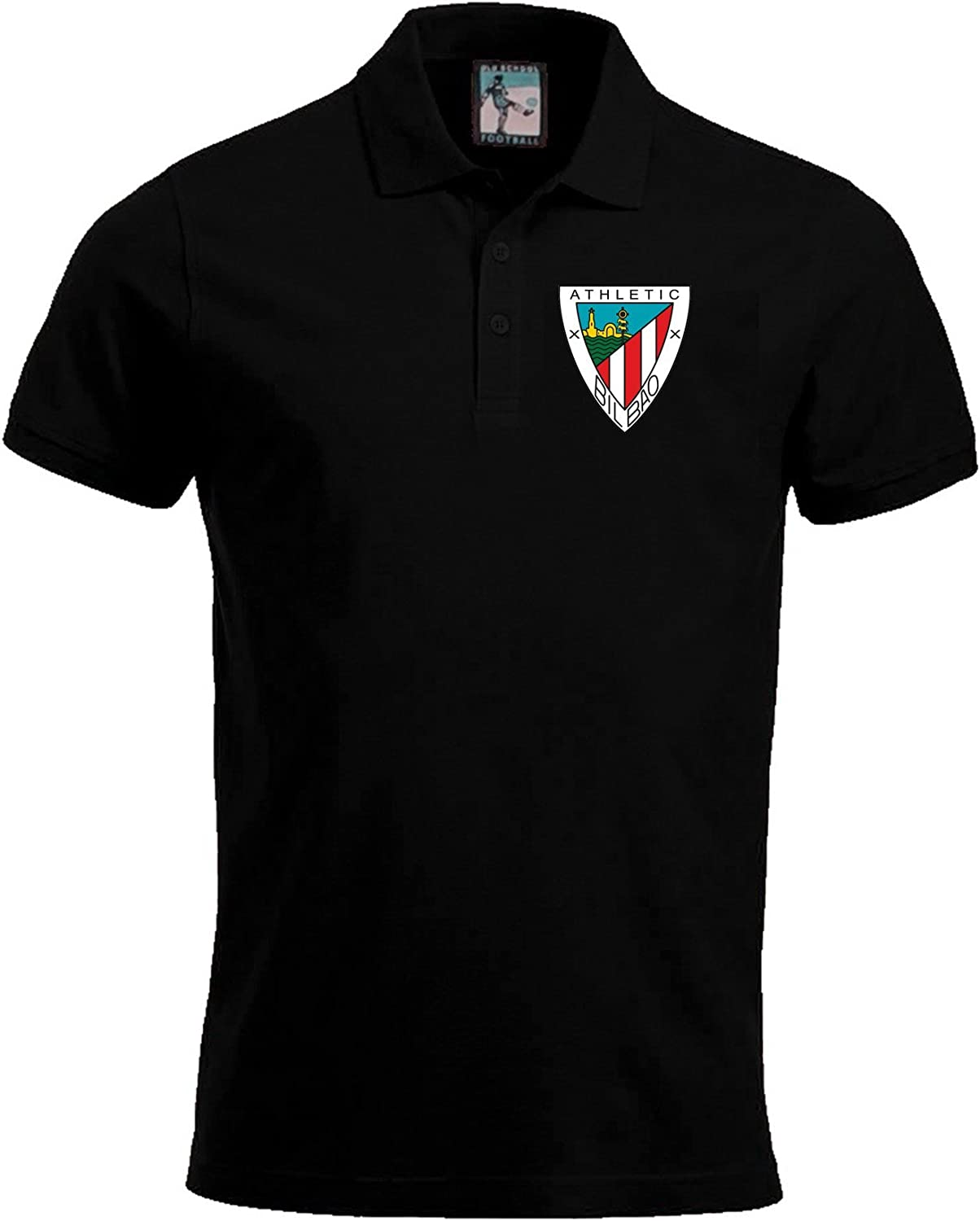 Old School Football Athletic Bilbao 1950s Polo Fútbol Camisa ...
