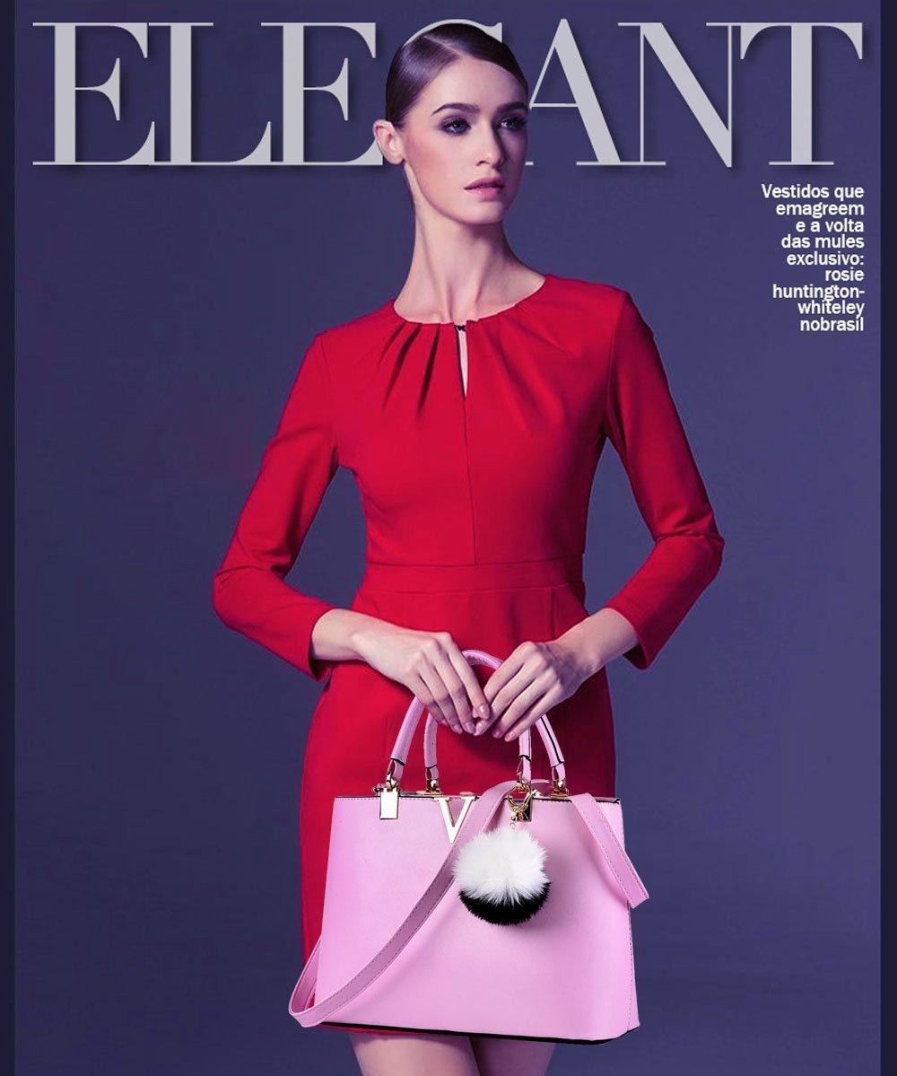 NICOLE & DORIS For Women's Casual Shoulder Cross Body Bags Spring 2017 Spring New Trends Minimal Fashion Handbags (Purple) by NICOLE & DORIS (Image #3)