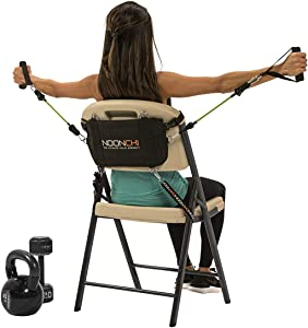 Noonchi V2 All Chair Workout, Turn Any Chair into a Gym. Home Gym, Home Workout, Office Workout, Anywhere Gym