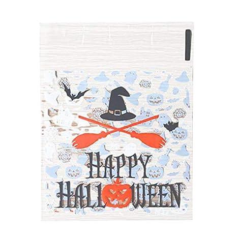 aloiness 100 Piezas Bolsas Bolsitas Halloween Plástico ...
