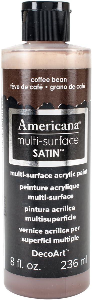 DecoArt Americana Multi-Surface Satin Acrylic Paint, 8-Ounce, Coffee Bean