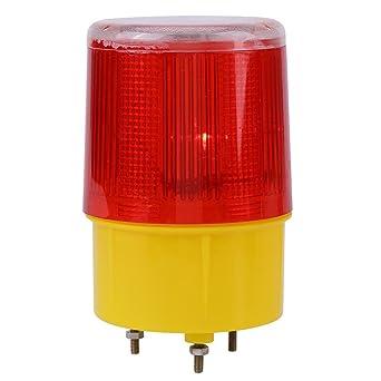 1PC Roja Solar LED de Advertencia de Emergencia Luz de ...