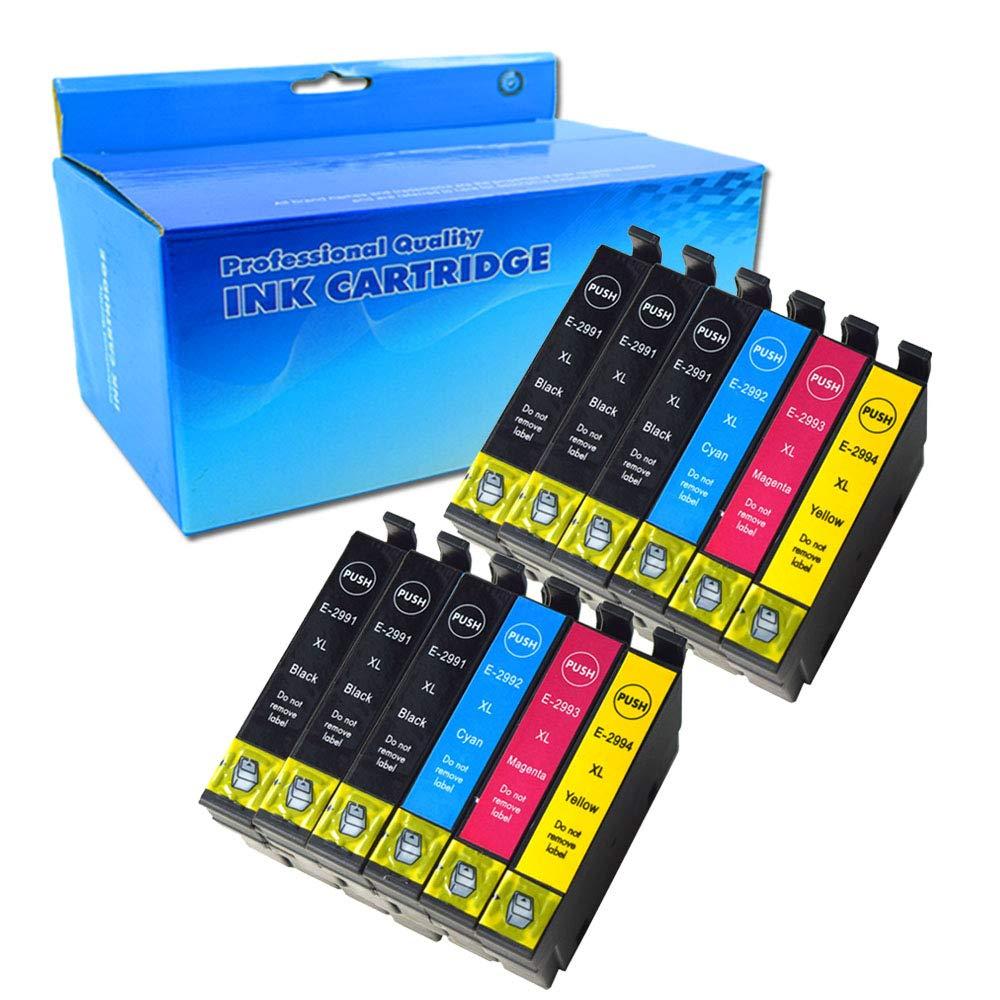 Ouguan 12x Cartuchos de tinta Epson 29XL Compatible con Epson Expression Home XP-235 XP-332 XP-335 XP-432 XP-435 XP-330 XP-430 XP-247 XP-442 XP-342 ...
