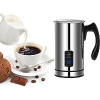 Homgeek Stainless Steel Automatic Electric Milk Frother Foamer Frothing & Heating Milk Warmer Foam Maker Latte…
