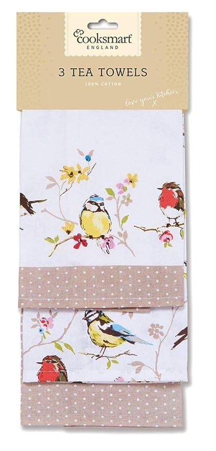 9ff5b4c13fe Cooksmart Dawn Chorus Tea Towels