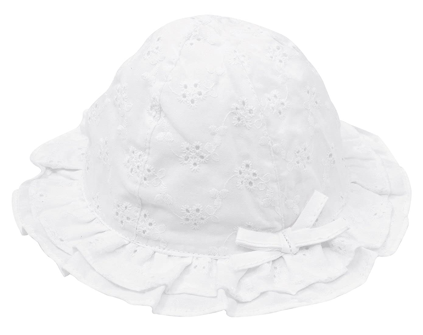 e1be7b03534 Happy Cherry Adorable Baby Girls Floppy Hat Floral Embroidered ...