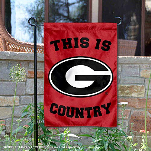 (College Flags and Banners Co. Georgia Bulldogs This is Bulldog Country Garden Flag)
