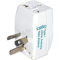 Ceptics 3 Outlet Travel Adapter Plug Type I for Australia, New Zealand