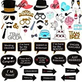 53Pcs Wedding Photo Booth Props Wedding Party Decoration Married Bridal Shower Hen Party Party Supplies-xsq