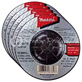 Makita 5 Pack - 4 Inch Grinding Wheel For Grinders - Aggressive Grinding For Metal - 4'' x 1/4 x 5/8-Inch | Depressed
