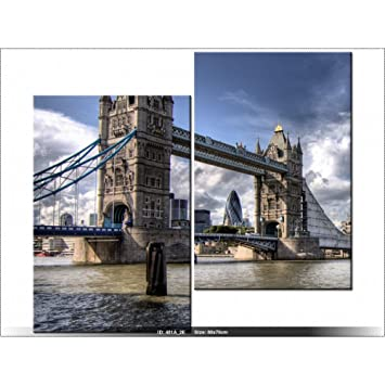 art-gallery XXL – 70 x 80 cm – London – Tower bridge – Tabelle Multi ...