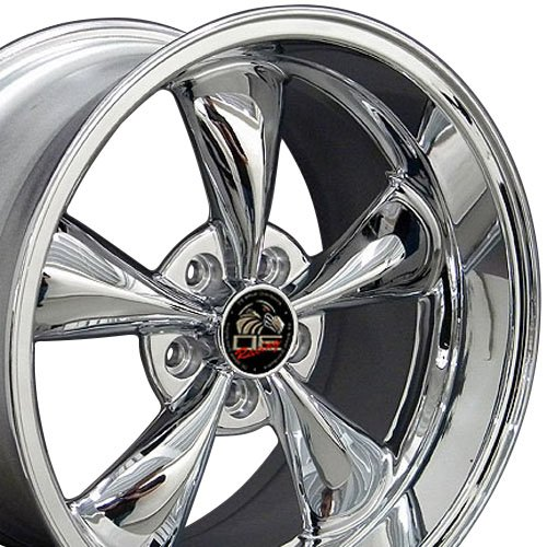 OE Wheels 18 Inch Fits Ford Mustang 94-2004 Bullitt Style FR01 18x10/18x9 Rims Chrome SET