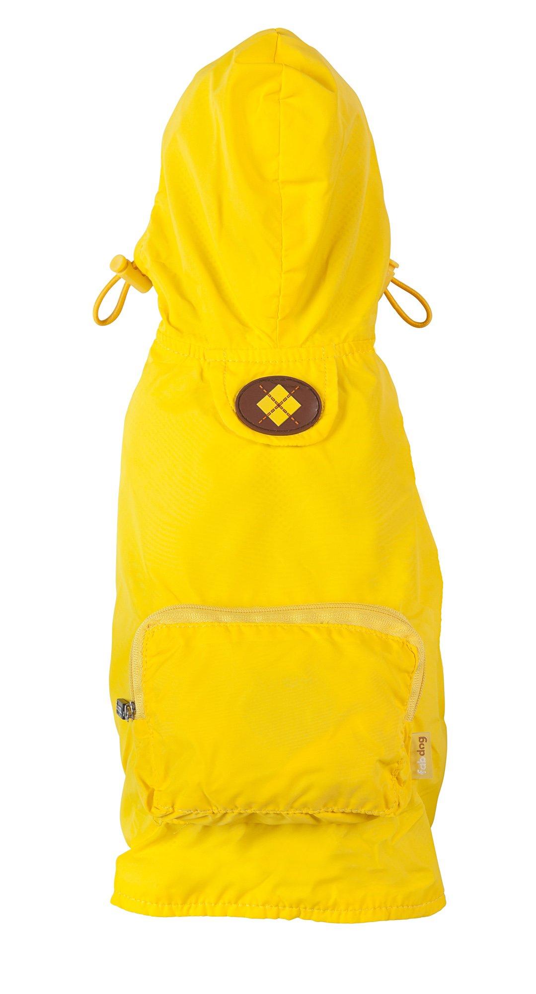 fabdog Packable Dog Raincoat, Medium (Yellow) by fabdog