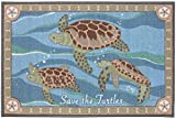 Area Rugs Kitchen Rugs Indoor Outdoor Claire Murray Washable Rugs 30x46'' Save the Turtles