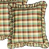 Blue & Brown Madison Silk Taffeta Window Treatment Lined Curtain Panel Drape (52″W X 120″L)