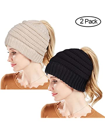 Rosoz Winter Ponytail Beanie for Women 970c1d8a4