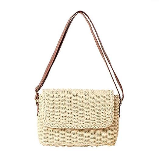 403d60728453 Amazon.com: Hot Summer Beige Brown Women Shoulder Bag Hand Made ...