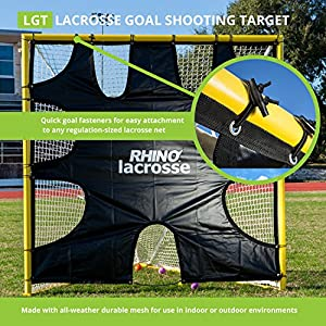 Champion Sports Lacrosse Goal Target: 6 x 6 Shooting Training Rhino Net Cover Blocker