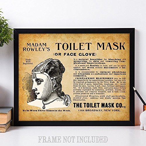 Bizarre Toilet Mask - 11x14 Unframed Vintage Art Print - Great Gift for Bathroom Decor