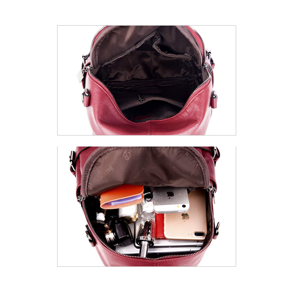 Five Colors for Women /& Men Stylish and Practical PU Leather ZHICHUANG Girls Multipurpose Backpack for Daily Travel//Outdoor//Travel//School//Work//Fashion//Leisure