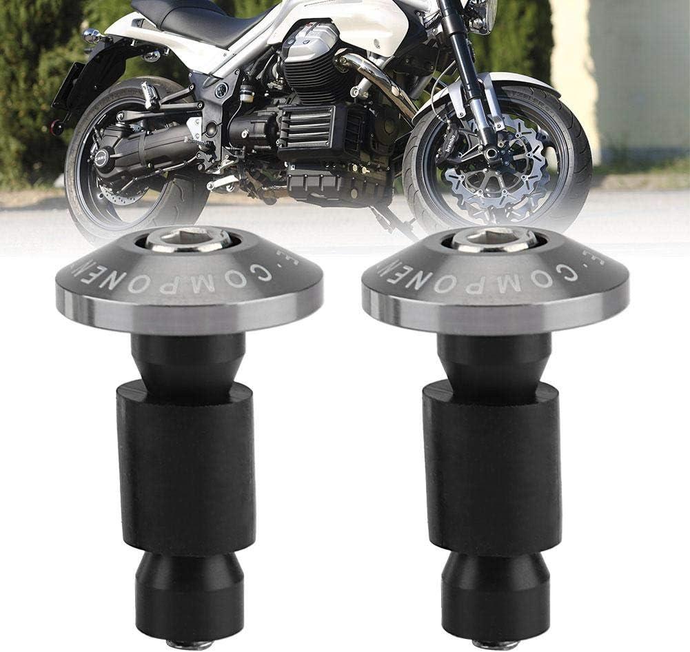 Silber Durchmesser Lenkern. 7//8 Zoll KIMISS Universal 1Pair Motorrad Lenkerende Schiebekappen f/ür die meisten Motorr/äder mit 22 mm