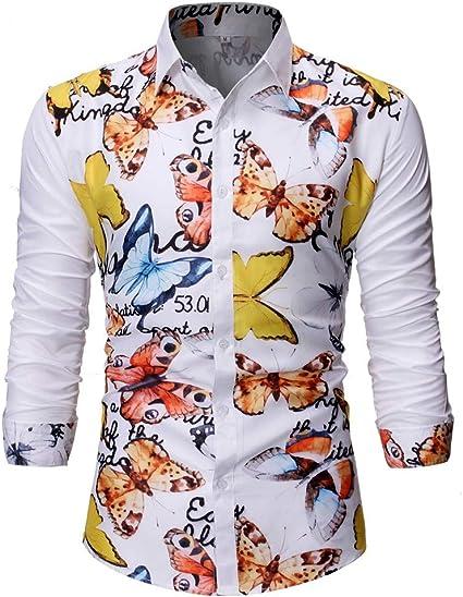Poachers Camisetas Hombre Originales Frikis Camisas de Hombre de Vestir Camisas Hawaianas Hombre flamencos Camisas Hombre Manga Larga Flores Camisas Hombre Verano 2019: Amazon.es: Ropa y accesorios