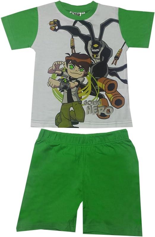 Ben 10 Boys Pajamas Green