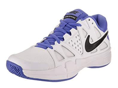 6e312ecfeb Nike Men s Air Vapor Advantage White Black - Medium Blue Ankle-High Leather  Running