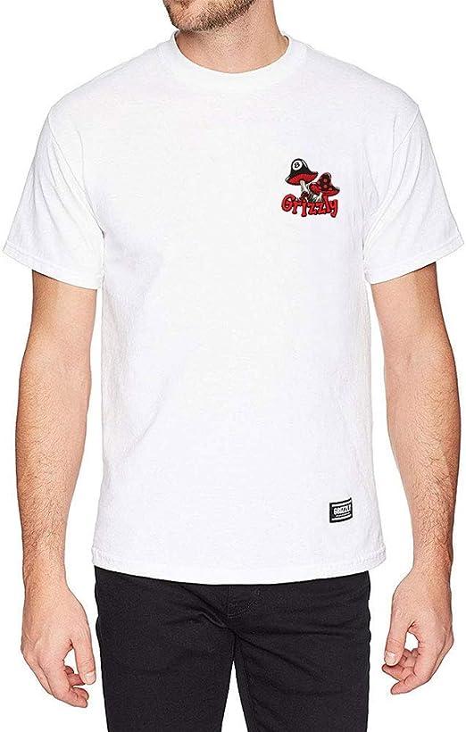 "Grizzly ""Griptape"" Skateboarding Men's T-shirt Black Size LARGE"