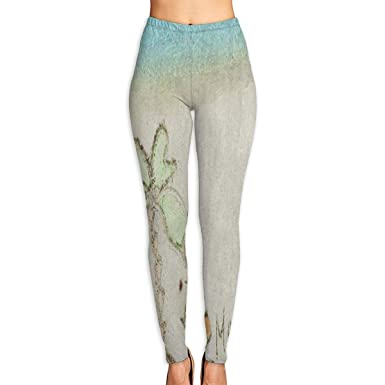 896a26a3a89f69 Amazon.com: Bei Tang Womens Yoga Pants Sand Tropical Palm Tree Quotes Slim  Fit Leggings Workout Trousers: Clothing