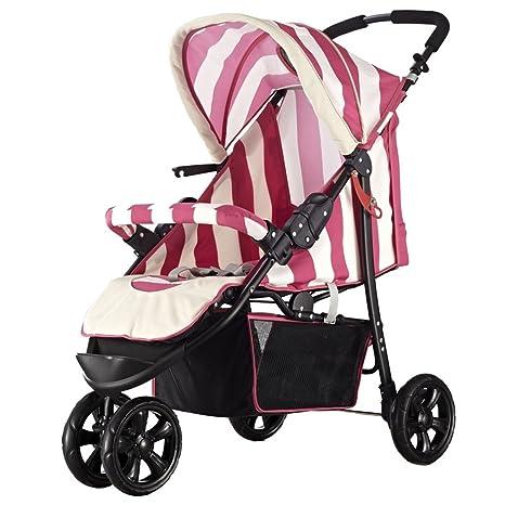 JM Carro de bebé Cochecito de bebé plegable de tres ruedas Cochecito ...
