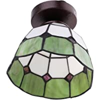 Baoblaze Mediterranean Style Glass Lampshade Ceiling Pendant Light Fitting Lamp for Loft Bar Cafe Kitchen Restaurant - Green
