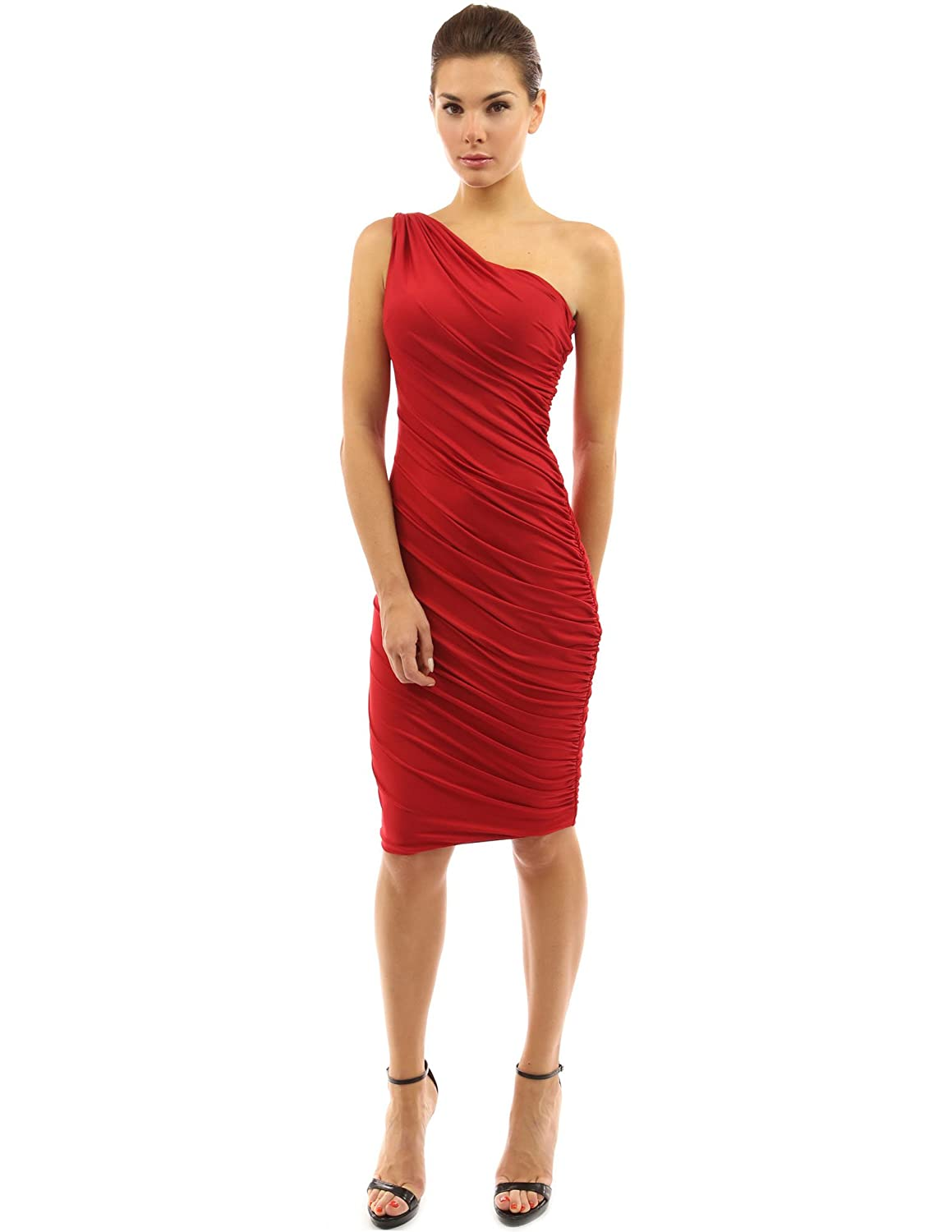 Amazon.com: PattyBoutik Women\'s One Shoulder Cocktail Dress: Clothing