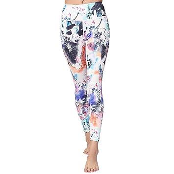 GZZ Señoras de Verano Imprimir Graffiti Pantalones de Yoga/Sexy ...