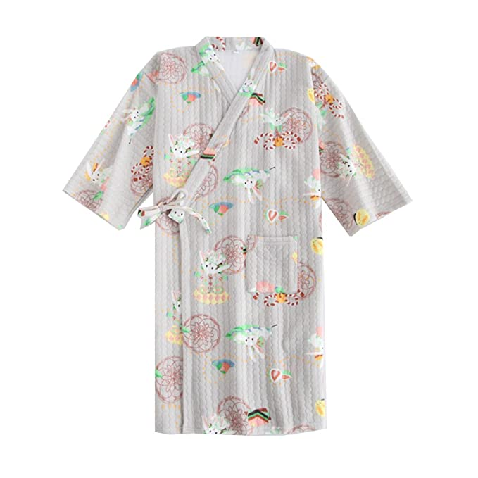 Fancy Pumpkin Pijama de Pijama de algodón de Estilo japonés para Mujer de algodón camisón Pijama