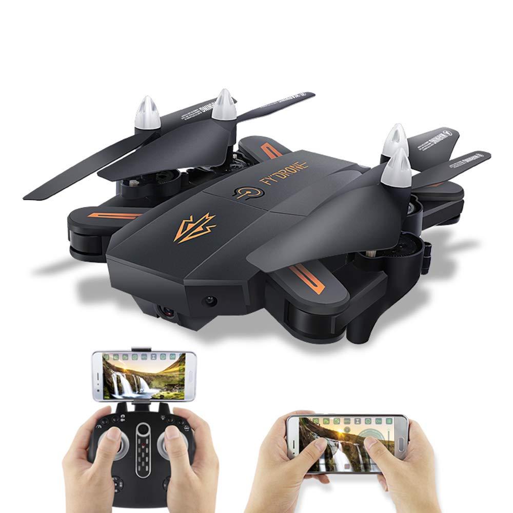 FYJH Drone con cámara de 1080P HD Mini Plegable de Cuatro Ejes avión Larga Vida de la batería WiFi mapeo en Tiempo Real de presión de Aire Aviones de Gran altitud