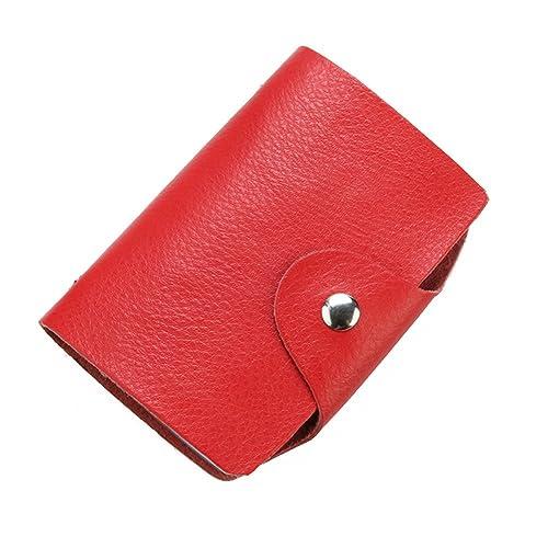 Yilisu - Cartera para mujer de Piel hombre para chico mujer chica, color rojo, talla 1 UK: Amazon.es: Zapatos y complementos