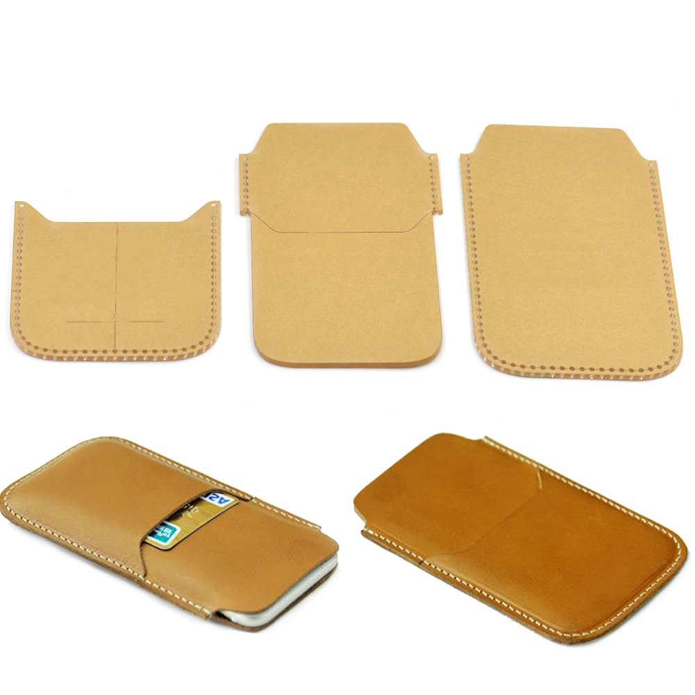 Fujiyuan 1 set Phone Cases Craft Acrylic Leather 899 Templates Pattern for making DIY iPhone 6 Card Holder Hobby